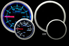 "Prosport- ELECTRIC BOOST GAUGE- Blue & White 2 1/16"" 52mm"