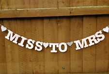 Miss To Mrs Banner Hen Do Party Decorations Bunting Garland Wedding Bridal Pink