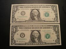 (2) $1.00 Series 2017 & 2017* Federal Reserve  (F) Note BU Uncirculated Cond.