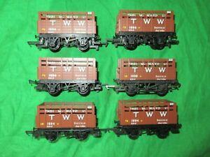 Hornby OO gauge 6 Thos. W Ward TWW Sheffield coke wagons