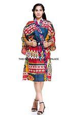 Women Cotton Ikat Print Robes Bridal Wedding Bridesmaid Bride Gown kimono robe