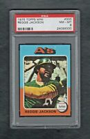 1975 TOPPS MINI #300 REGGIE JACKSON OAKLAND A'S PSA 8.0 NM/MT++SHARP CARD!