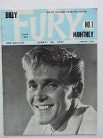 BILLY FURY ORIGINAL mensual REVISTA N º 1 MARZO 1965 GRAN limpieza ESTADO