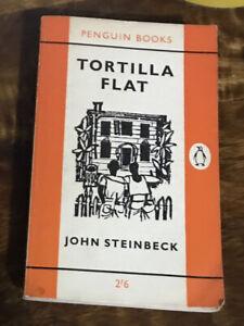 Penguin Books 786 John Steinbeck Tortilla Flat 1961 Edition? 2'6 Orange Cover
