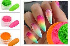 Fluorescent pigments set pink green orange 3ml pot nail additives mica powder