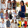 UK Womens Summer Holiday Mini Playsuit Ladies Jumpsuit Beach Shorts Size 6-14 UK