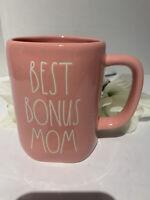"Rae Dunn Mother's Day ""BEST BONUS MOM "" Mug Glossy Pink LL by Magenta New! 💕🌸"