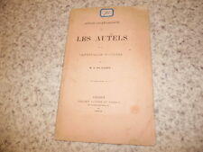 1878.notices sur autels de la cathédrale d'Angers.Farcy