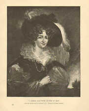 Royalty, The Duchess Of Kent, A German Lady, Vintage 1890 Antique Art Print
