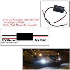 2 x Alternating Left/Right Car Truck DRL Lamp LED Light Strobe Flash Module Box
