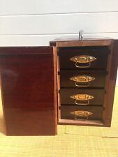 "Vintage BAJA SLIDE CASE Storage in Box 4 Tray 8 3/4"" Tall X 10 1/4"" Deep X 6"" W"