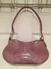 NWT Genuine Crocodile Skin Lavender Handbag Pocketbook Purse