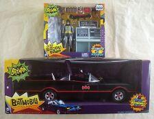 "TO THE BATCAVE! BATMAN & BATMOBILE Classic TV Series 6"" figure Mattel Adam West"