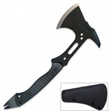 Tactical Hatchet Axe Sharp Steel Blade Full Tang Tomahawk Pry Bar Nail Puller
