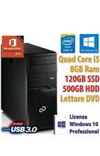 COMPUTER RICONDIZIONATO FUJITSU P710 INTEL I5/8GB/SSD 120GB/500GB/DVD/USB 3.0