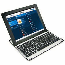 Aluminum Mobile Bluetooth Wireless Keyboard Dock Case Cover for iPad 2 3 4 Black