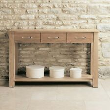 Mobel Solid Oak Wooden Furniture Console Hall Table