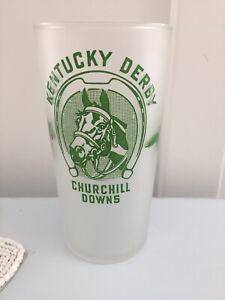 Vintage 1948 Kentucky Derby Mint Julep Glass Frosted Bottom Style