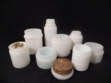 Vintage Milk Glass Cosmetic Jars