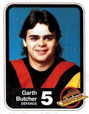 1982-83 Vancouver Canucks Team Issue #4 Garth Butcher