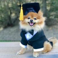 Pet Dog Doctor Hat Graduation Cap Tassel Hanging Hat Puppy Photobooth Props