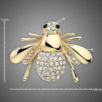 rhinestones animales broche joyas Cutes Bee broches pines color oro