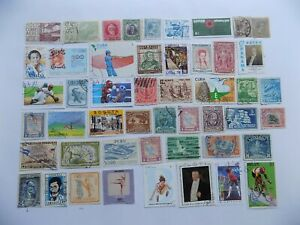 LATIN AMERICAN collection of used comm. stamps off paper-8-3-K