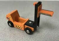 Genuine Brio Forklift Spring Loaded Wooden Toy