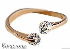 Stunning Rose Gold Plated Imitation Simulated Diamond Tail Ring