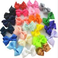 20pcs Grosgrain Ribbon Hair Bows Hairpin Boutique Girls Baby Kids Alligator Clip