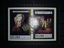 State of Oman postage 30 10 72 Rembrandt