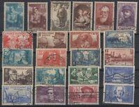 AV142357/ FRANCE – YEARS 1937 - 1940 USED SEMI MODERN LOT – CV 165 $