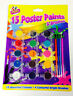 BRAND NEW 15 POSTER POT PAINTS & 4 BRUSHES  KIDS ART CRAFT ARTIST PAINTING SET