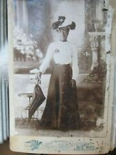 RARE Antique Cabinet Photograph of DRESSY Young African American Woman, c1880!!