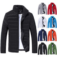 Winter Men's Warm Quilted Padded Coat Bubble Puffer Jacket Ski Parka Overcoat