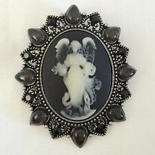 Pendant Charm Pin Black Angel Gift Br1068A Nw Vc Drop Vintage Style Cameo Brooch