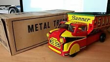 Vintage 1950's Sand Gravel Excavating Truck by Banner with Original Box MINT