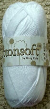 Half King Cole 100 Cottonsoft DK 100gm Balls 9 Colours 710 White