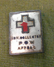 #D174.    NUMBERED WWII BADGE - HONARY COLLECTOR P.O.W. APPEAL