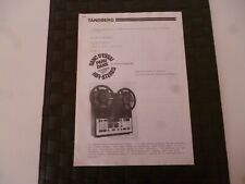 TANDBERG 10X TAPE RECORDER REPORT ON THE TEST BENCH 1977  *RARE* *AS PICTURES*