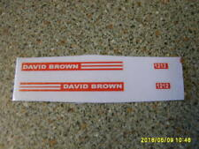 CORGI  DAVID BROWN 1212  FARM TRACTOR  SIDE STICKERS   NEW REPLACEMENT
