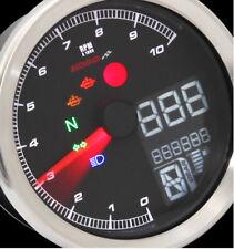 KOSO TNT-04 Drehzahlmesser Tachometer Tacho mit schwarzem Ring und ABE/KBA