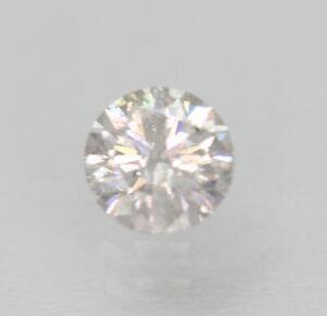 Certified 0.32 Carat F SI2 Round Brilliant Natural Loose Diamond 4.33mm EX CUT