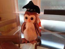 'Wise' the Scholarly Owl Ty Beanie Baby - Graduation - MINT - RETIRED