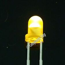 YELLOW Standard 3mm LEDs Pack of 50. UK