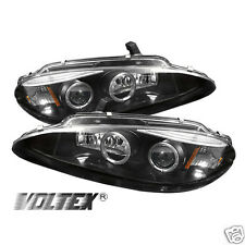 1998-2004 DODGE INTREPID HALO EYEBROW PROJECTOR HEADLIGHTS LIGHTBAR BLACK