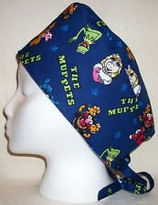 Surgical Scrub Hat Skull Cap Made w Muppets Miss Piggy Kermit The Frog Fabric