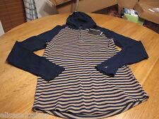Men's Hurley long sleeve hoodie shirt XL pullover dawner thermal blue TNV NEW