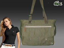 New Vintage LACOSTE Womens Ladies TOTE Bag New Casual 11 Khaki