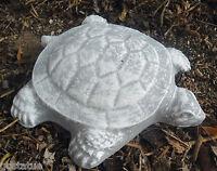 """Plastic turtle mold plaster concrete casting garden mould 6"""" x 4.5"""" x 3/4"""" thick"""